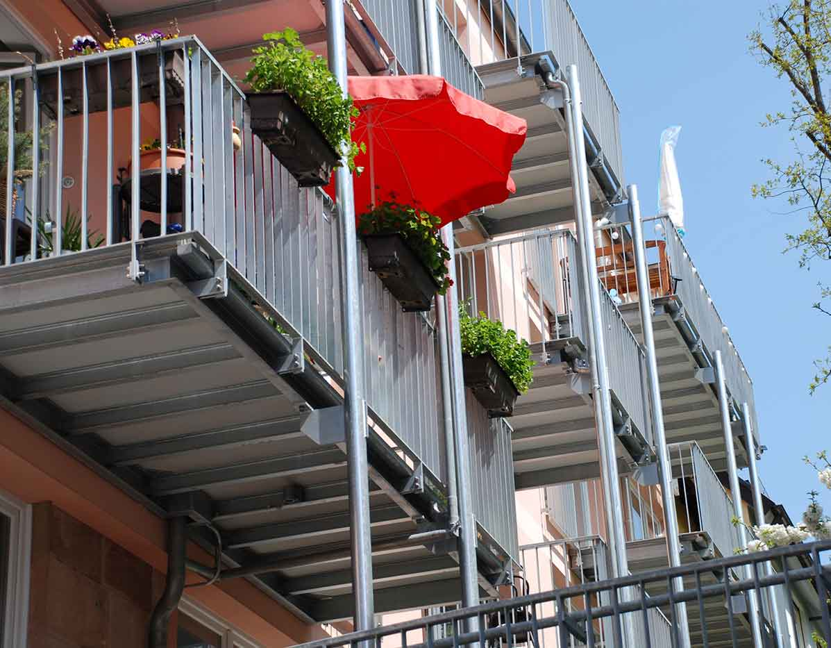 Balkonanbau Sachverständiger und Gutachter für Immobilien Bernd A. Binder